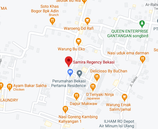 Samira Regency Bekasi Maps
